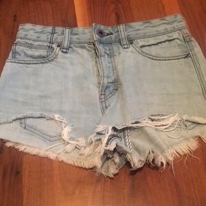 Free People Distressed Cut Offs Shorts 25